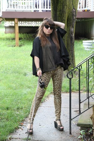 studded Italia Independent sunglasses - leopard print 7 for all mankind jeans