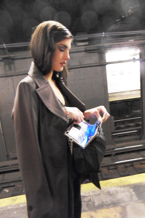 Tahari coat - diamond girl Glass Handbag bag - Bebe suit