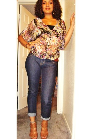 sheer floral Wet Seal blouse