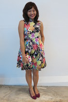 black Lark & Peony dress - hot pink LeSportSac bag