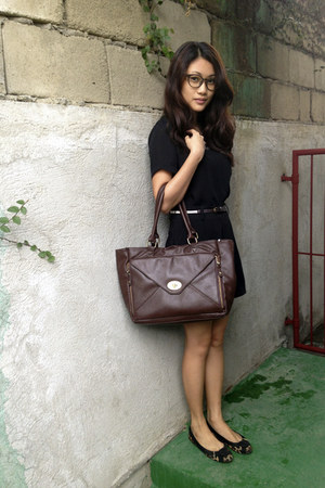 black Mango blouse - brown Bayo bag - sm department store shorts