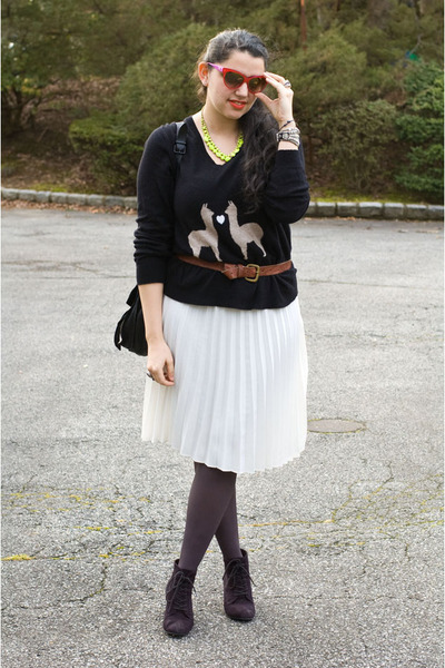 ever skirt - Zara shoes - madewell sweater - PROENZA SCHOULER bag