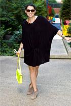 pinkyotto dress - Steven boots - Cambridge Satchel Company bag