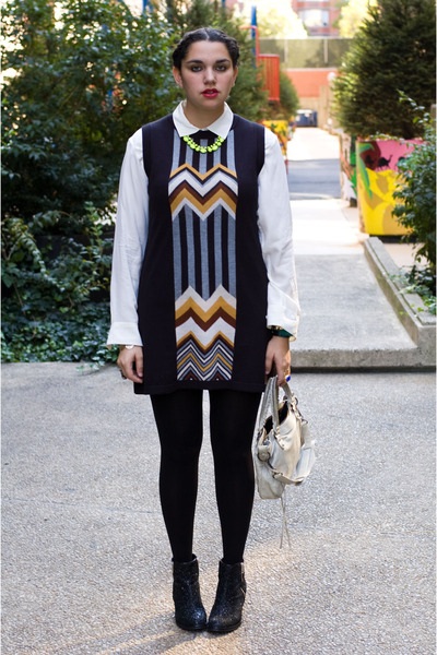 Adia Kibur necklace - Topshop boots - missoni for target dress - balenciaga bag