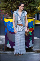 Topshop skirt - Steven boots - Mango bag - Helmut Lang blouse - J Crew vest