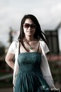 Lycra-cotton-unbranded-dress-brown-gucci-glasses-white-top-goggles-cardigan-