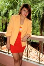 Orange-sosi-stuff-blazer-carrot-orange-herve-ledger-dress