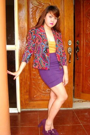 amethyst SOSI STUFF blazer - purple Charles &amp; Keith heels - deep purple People a