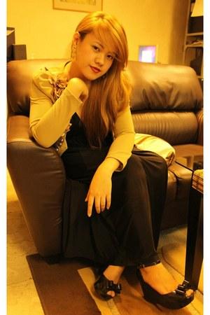 black Melissa shoes - black Zara dress - camel Forever 21 blazer