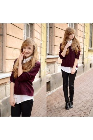 magenta H&M sweater