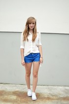blue Bershka shorts