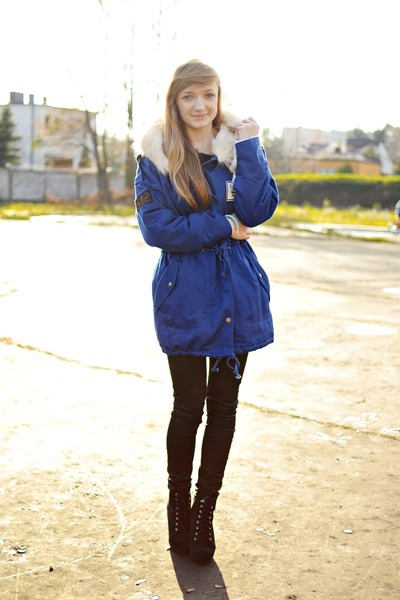 blue Sheinside coat