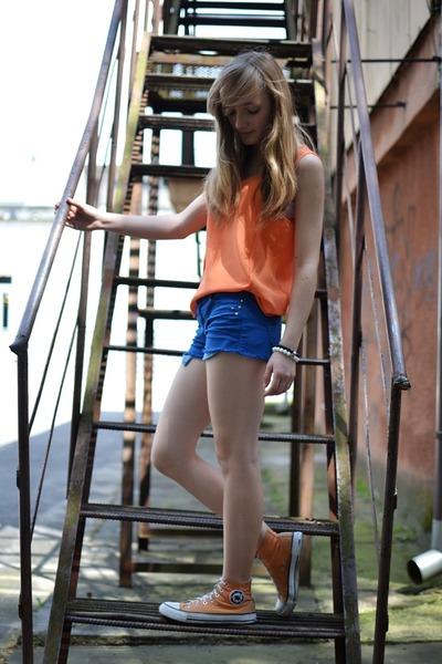 light orange H&M blouse