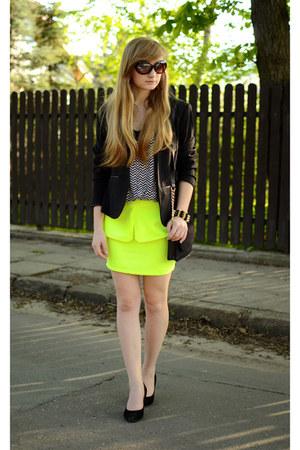 lime green Choies skirt