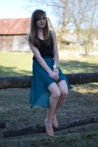 teal reserved skirt