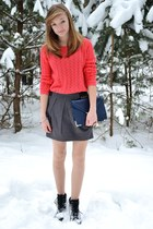 heather gray Crop skirt