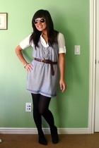 Target - Nordstrom tights - forever 21 shirt - belt