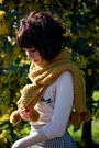Mustard-pom-pom-dangerfield-scarf-beige-bonjour-knit-asos-sweater