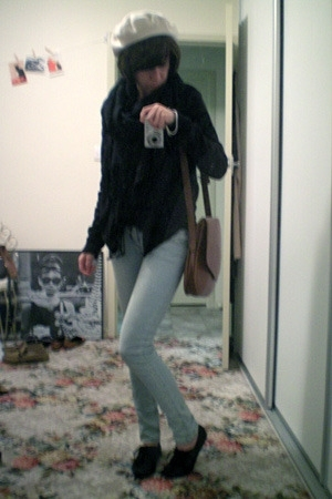 cotton on jacket - ebaycom scarf - Princess Highway jeans - Scooter shoes - YSL