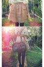 Beige-valleygirl-coat-white-ebay-blouse-pink-sretsis-skirt-black-ebay-stoc