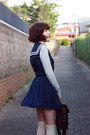 Army-green-mary-gorman-wedges-navy-sailor-romwe-dress