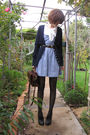 Black-chloe-shoes-black-ebay-tights-blue-bb-dakota-dress-blue-dotti-cardig
