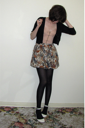 jacket - Topshop top - Forever21 skirt - Witchery shoes - Dotti purse