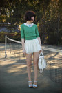 White-skirted-i-any-wear-shorts-light-blue-swedish-hasbeens-clogs