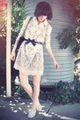 White-anna-sui-for-target-dress-white-steve-madden-shoes-black-ebay-belt-b