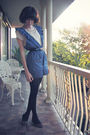 Blue-diy-jumper-white-asos-top-black-ebay-belt-black-markets-accessories-