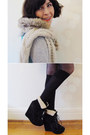 Aquamarine-wool-shift-romwe-dress-black-chinababy-windsor-smith-boots