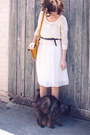 Tan-seega-wedge-rubi-boots-ivory-alicia-pleated-forever-new-dress