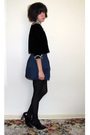 Black-forever-21-jacket-blue-forever-21-skirt-black-supermarket-tights-top