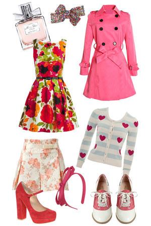 pink brogues Rachel Antonoff heels - red mary jane dune heels