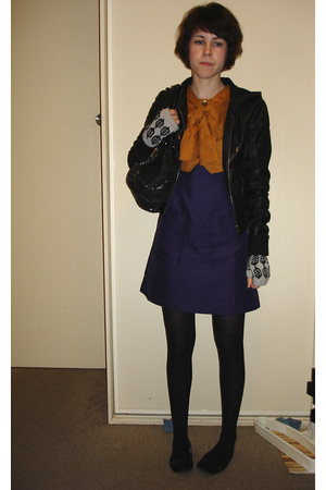 Sportsgirl jacket - MBMJ dress - Dolce & Gabbana purse - Dotti gloves - Supermar