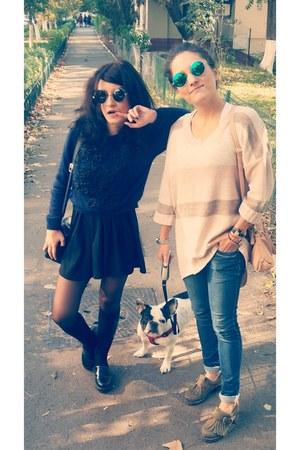 asos shoes - H&M dress - picard bag - asos blouse