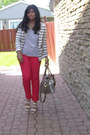 White-forever-21-blazer-tan-aldo-bag-heather-gray-leigh-harlow-t-shirt