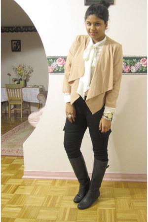 light pink Forever 21 top - black expression shoes - white Joe Fresh shirt