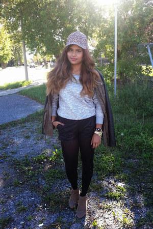 le chateau jacket - Aldo boots - Vero Moda hat - Vero Moda sweater