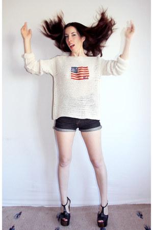 ivory usa Ralph Lauren sweater - navy high waisted Cheap Monday shorts