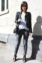 Zara jacket - lace up wedges acne wedges