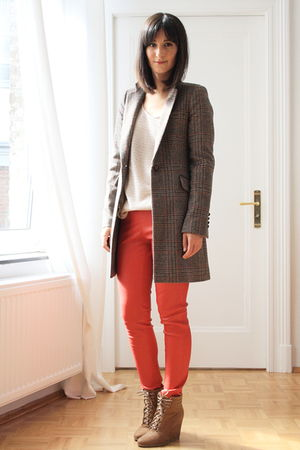 Zara shoes - Zara coat - H&M sweater - COS pants