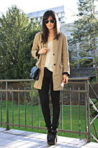 black Zara shoes - Zara coat
