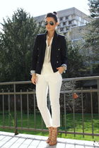 white pants Zara pants