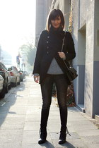 military jacket Zara jacket - boots acne boots - Isabel Marant sweater