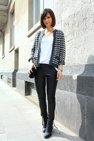 acne boots - Zara jacket - t by alexander wang t-shirt