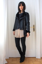 American Apparel blouse - Zara jacket