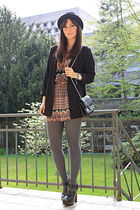 H&M blazer - vintage dress - Zara shoes