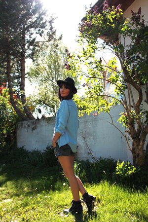 denim shirt Zara blouse