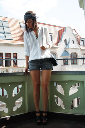 Zara blouse - Zara shorts - Zara shoes